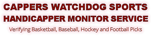 cappers watchdog free sports handicapper monitor service verifying football, baseball hockey and basketball picks
